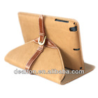 360 Degree Rotation Leather Pouch for iPad Mini Belt Buckle Folio Bag