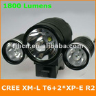 1800 Lumens CREE XM-L T6 + 2*XP-E R2 LED Bicycle Light
