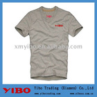 men's custom design plain grey v neck t shirts OEM