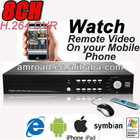 8CH H.264 CCTV DVR Surveillance Digital Video Recorder Networking Real Time DVR w Remote view via Mobile AT-DVR8508H-TD