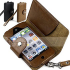 Top layer buffalo hide leather case for ipod touch 4