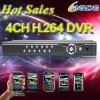 Hot Sales 4channel cctv h.264 dvr recorder player(D2104A)