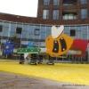 Children playground yellow artificial turf