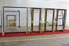 Laminate Renolit film Wooden/White/Black color UPVC Accordion door folding doors