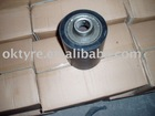 rubber roller with zinc hub