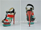 High quality ladies high heel shoes designer summer sandals 2012