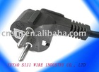 Europe-VDE PVC power cable plug with earthing contact, non-rewiable, moulded SJ-2