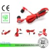 MS01 mp3 earphones with flat cable