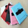 christmas gift!360 rotation leather case with hand holder for IPAD2/3