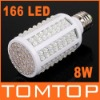White 8W E27 166 LED Energy Saving Corn Light Bulb Lamp 360 Degree