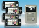 7 inch color iphone appearance 1 to 4 video door phone nterm systemlla for villa