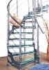 Arcuate Stainless Steel Staircase