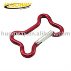 2012bone shaped climbing Anodized karabiners