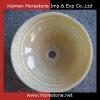 Round Bathroom Water Granite Honey Onyx Sink