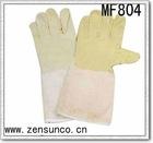 14 Inch Length Pig Split Leather/canvas Welding Glove