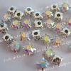 Sew on rhinestone in metal setting claw crystal AB ss20