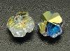 Austria Crystal Beads, 001_Crystal, 001AB_Crystal Aurore Boreale, 5744 Flower, 8x6mm, hole: 1.2mm(SWAR-Q001-001AB)