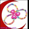 Charm wood bead Bracelet for kids GGBR21205C