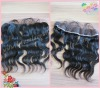 Natural color Body wave Chinese virign hair lace frontals