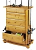 Fishing Rod Rack w/ 4 big drawers