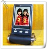 2.4inch small digital photo frame with clock and calendar and photo slide show function
