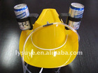 Yellow Cowboy Beer Party Hat