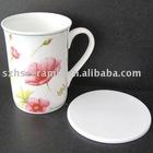 white round ceramic tie coaster