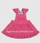 Pink angel girls dress