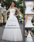 2011 new arrived elegant and charming satin & organza floor-length bridal gown NW11139
