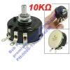 5% Tolerance 3 Terminals Electrical Wirewound Potentiometer 10K Ohm