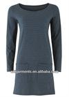Women's Blue Stripe Tunic Dress 3391