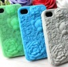 New arrival 3D embossment rose phone case for iPhone