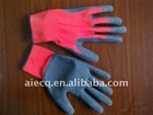 knitted cotton impregnated working gloves