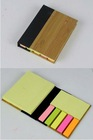 Bamboo cover promotion notepad with five flags