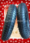 3.50-8 wheelbarrow tire with plain pattern of ISO 9001
