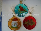 Glass ornament/Christmas ornament/hot-milt glass