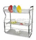 3 layer iron kitchen dish drainer drying rack