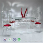 acrylic furniture table with chairs