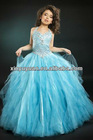 Girl Dress Halter Beaded A-line Prom Gown Party Dress PT-250