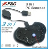 3 in 1 PC gaming controller( keyboard+mouse+game pad)