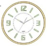 analog beautiful new design metal wall clock with digital calendar