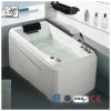 Colorful LED waterfall small massage bathtub ,jacuzzi function LED bathtub HS-1691