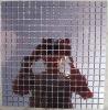 backsplash purple stained foil glass mosaic tiles for sale