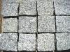 grey granite road paving cobbles