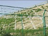 Green PVC highway protctive fence