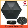 Black color Mini Pocket Umbrella with EVA case
