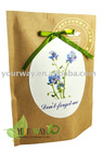 Don't-forget-me paper bag flower
