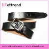 Fashion black cowhide split leather men belt