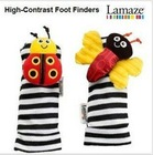 Free Shipping 20pcs 4 desigen mix 10hand+10 Footwear orrignal brand Lamaze Wrist Rattles,Toddler Infant Plush toys