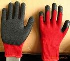 Pcoated Latex high grip glove